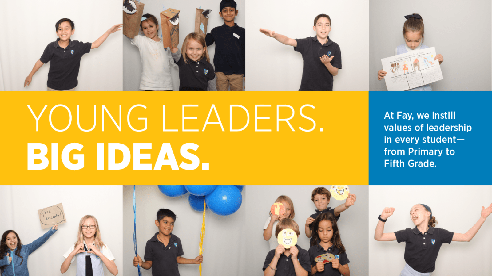 Homepage Slider of young leaders with big ideas