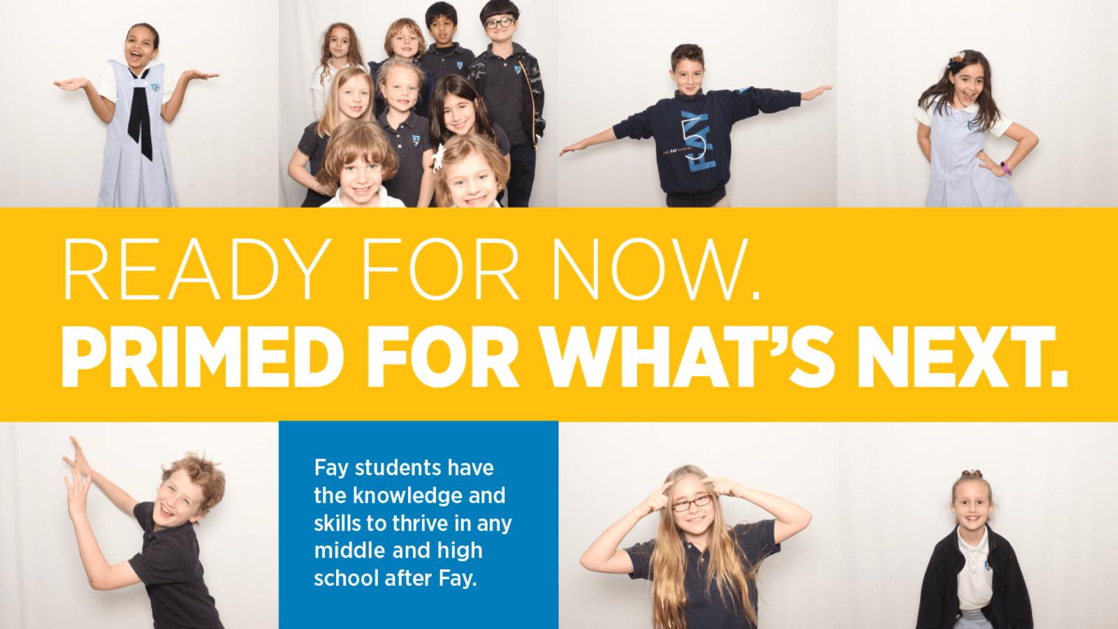 Homepage slider of students who are ready for now and primed for what is next