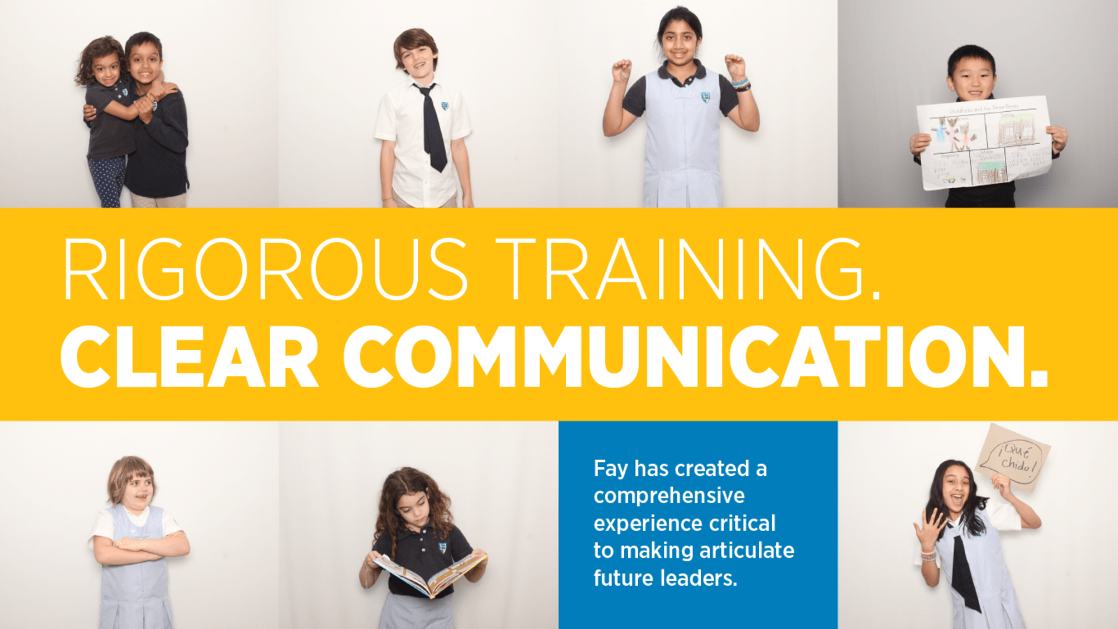 homepage slider of children who hare rigorous training and clearly communicate